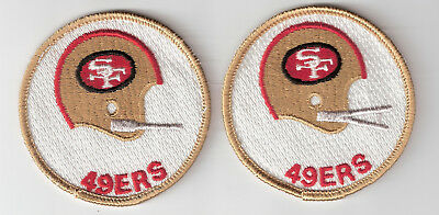 Lot of 2 diff San Francisco 49ers Patches Vintage 3 inch round Patches Free Ship