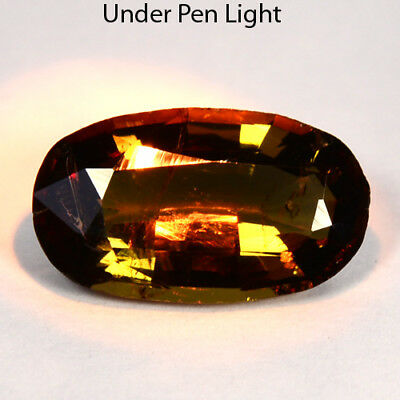 1.91 Cts Natural Color Change Axinite Oval Cut Afghanistan