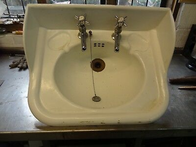 Cast Iron Wash Basin with chrome taps