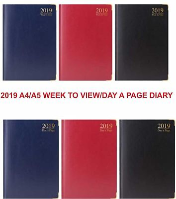 Tallon 2019 A4 / A5 Diary Day to Page or Appointment Page A Day Time Slot Dairy