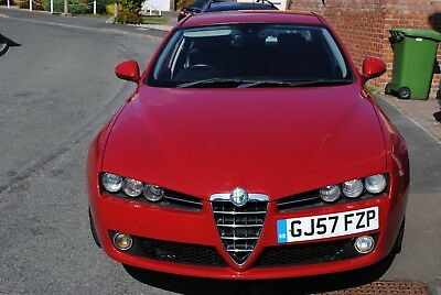 Alfa Romeo 159 1.9 Jtdm  Lusso 2007 Red,mot 9/19 One Owner Low Miles £3795