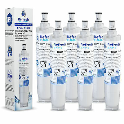 Replacement Filter for Whirlpool 4396508 / R-9010 (6-Pack) Refrigerator Water