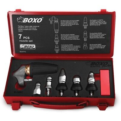 Boxo Bjn7Ps 7 Pce Jetter Nozzle Set Delivered Brand New Complete Set
