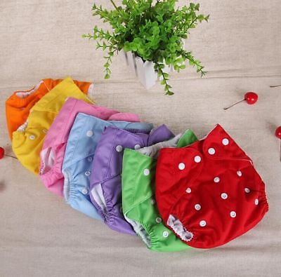 Baby Cloth Diapers One Size Fits All Lot of 7 Cloth Diaper Baby Winter Summer