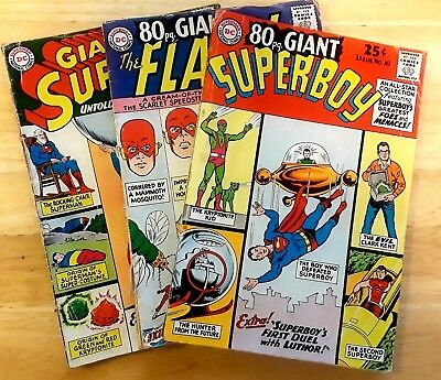 DC 80 Page Giant Annuals - Lot of 3 - Superboy #10, Superman #8, The Flash #4