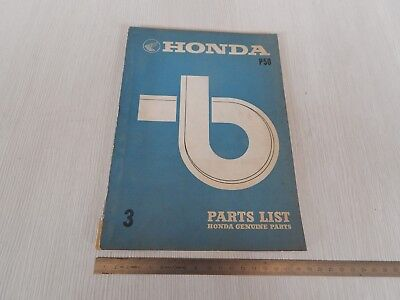 Honda P50 1969 catalogo parti di ricambio originale parts list