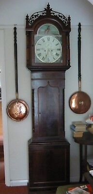 Antique   Mahogany 8 Day Striking Longcase Grandfather Clock