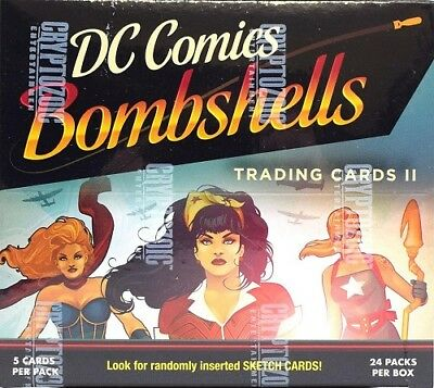 Dc Comics Bombshells Series 2 Cards Hobby Sealed Box Cryptozoic - Pre-Order!