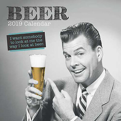 Beer 2019 Wall Calendar (Gifted Stationery) Free Postage
