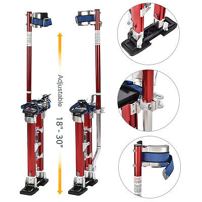"18""-30"" Drywall Stilts Red Aluminum Finishing Tool Stilt Painting Painter Taping"