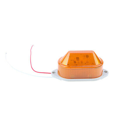 Amber Emergency LED Flashing Strobe Signal Warning Light Lamp Beacon AC220V