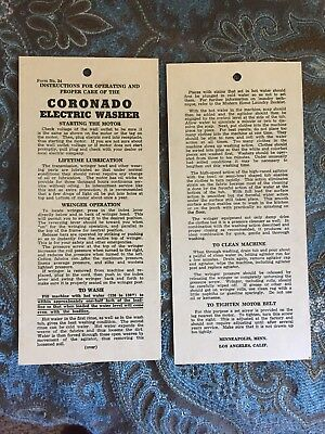 Coronado Electric Washer Washing Machine Manuals 2