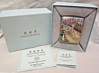 Halcyon Days Enamel Trinket Box Piccadilly by Lavery 12 May 1937 #66 of 100 +