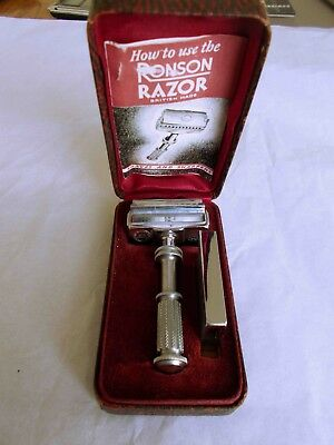 Vintage Ronson Self Sharpening Razor with instruction leaflet