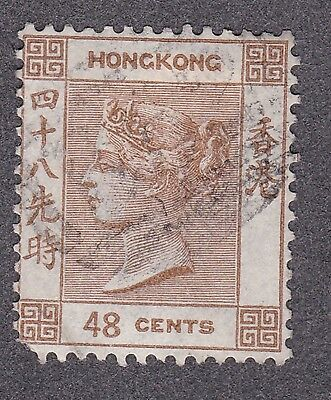 Hong Kong 1880  48 cent brown S.G. 31 used catalogued £110