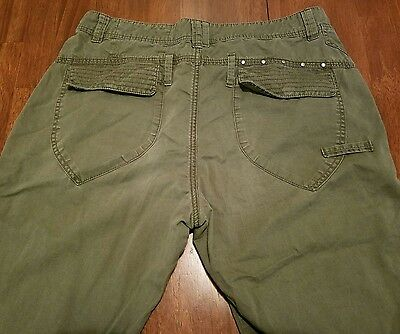 Harry Potter Dumbledore's Army Cargo Pants 1997 Wizard Olive Green Hogwarts