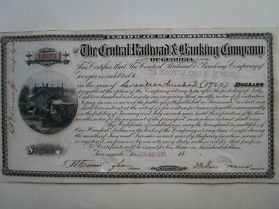 1895 Central Railroad and Banking of Georgia plus letter