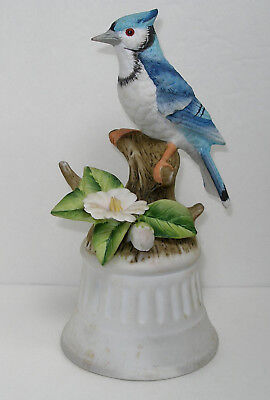 Vintage Blue Jay Figurine Music Box Free Shipping