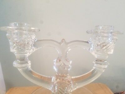 crystal candelabra dual candle stick