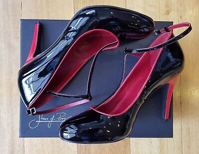NEW- Shoes of Prey - patent leather black & red heels -size 10 - size 41 womens