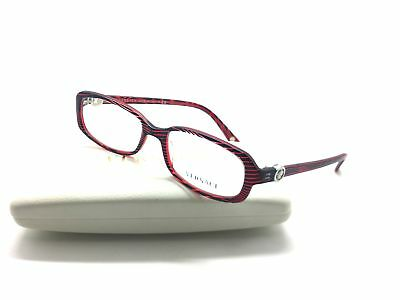 562742a38349 Versace Mod. 3149-B 935 Red Black 52mm Frames Eyeglasses RX Italy Authentic