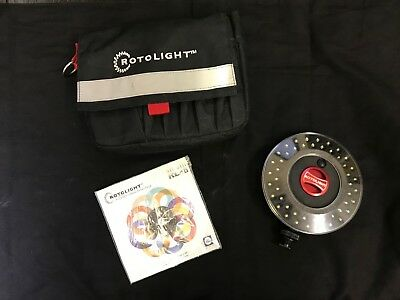 Boxed Rotolight  Rl-48-Ik-v2 kit with pouch. Interview Lighting Kit 2 Rotolights