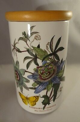 Portmeirion Botanic Garden 20cm Storage Jar Passion Flower Crest Backstamp 80s
