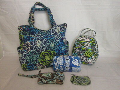 Vera Bradley Mixed Lot of 5 Purses/Lunchbox...Various Styles & Designs