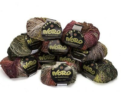 10 x 50g balls Red/Brown Mix Noro Silk Garden Lite 45% Silk- shade - 2129