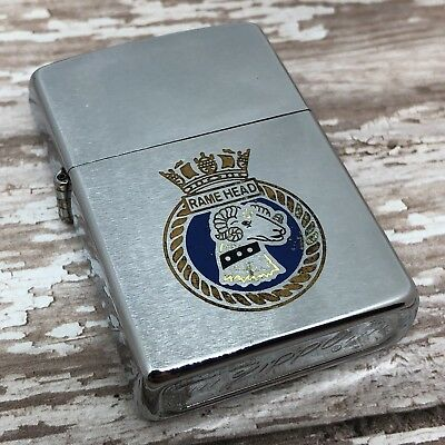 1974 Vintage Zippo Lighter - Rame Head - 8th Infantry Brigade - British Army
