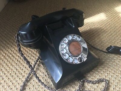 Old GPO Bakelite Telephone 312 Fully Working Great Condition 1954