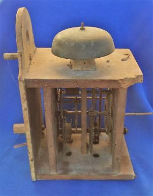 Antique 19th Century Wooden Wall Clock Movement - PROJECT