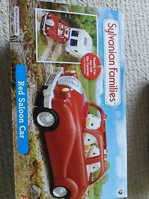 Sylvanian Families red saloon car good condition in box.