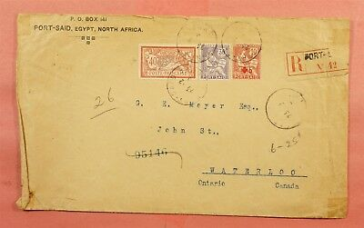 1916 France Offices Port Said Egypt Registered To Canada