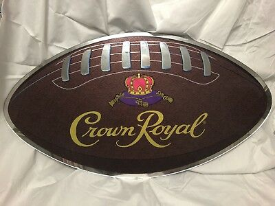 Vintage Crown Royal Mirrored Football Sign