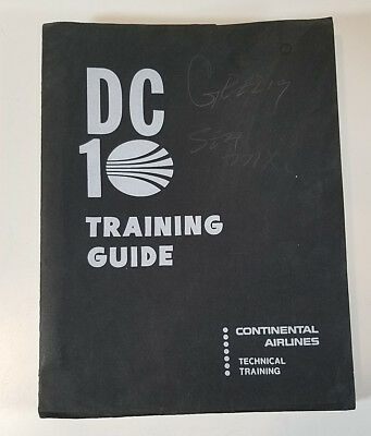 Vintage Continental Airlines DC10 Training Guide McDonnell Douglas 1972 Aviation