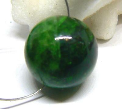 RARE GREEN CHROME DIOPSIDE ROUND BEAD 13mm 18.85cts AAA+++ NATURAL GEMSTONE