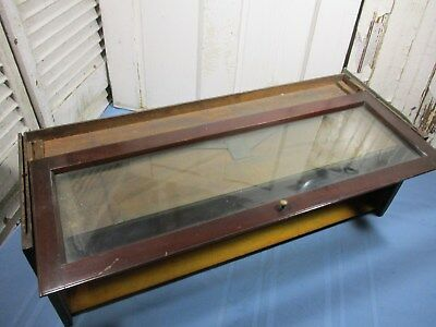 Anitque Camden Cabinet Barrister Bookcase Section, Glass Intact & Part of Label