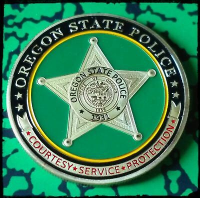 Oregon State Police Department #1289 Colorized Art Round