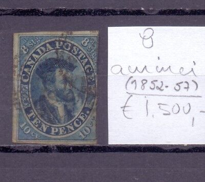 ! Canada 1852-1857. Thin-Spot Stamp. YT#8. €1.500,00 !