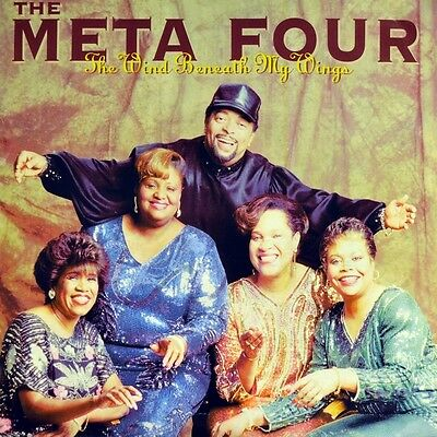 "7"" THE META FOUR feat. ROBERT MAYES Wind Beneath My Wings BETTE MIDLER JARO 1991"