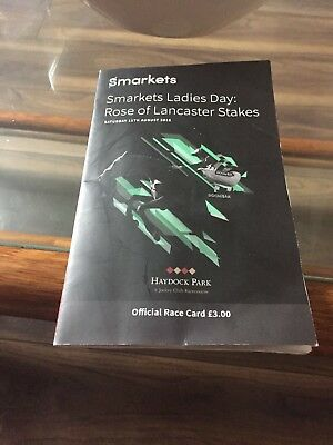 Signed Race Card Programme By Lester Piggot Saturday 11th August 2018