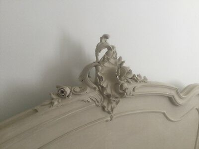 Louis XV Style Vintage French Carved Double Bed