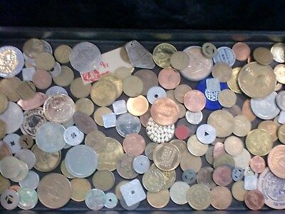 2 Pounds Mixed Token Lot - Great Mix - Great Mix  Free Shipping