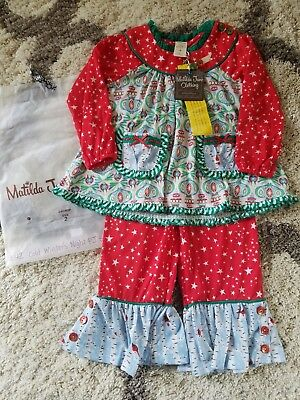 NWT/NIB Matilda Jane Cold Winter's Night PJ Set sz2 Perfect For Holidays!