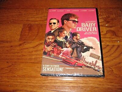 Baby Driver: Ansel Elgort, Lily James] Authentic DVD,2017] New Sealed+ Fast Ship