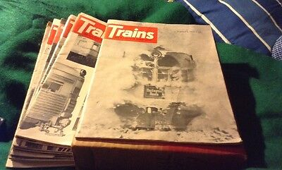 Trains The Magazine Of Railroading / Lot 12 Issues 1964 Complete Year