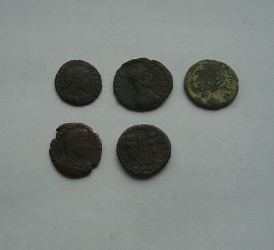 lot of Ancient ROMAN coins x 5