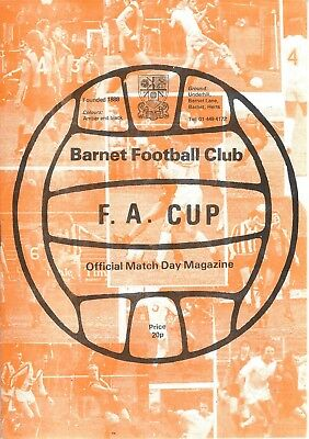 BARNET F C v WYCOMBE WANDERERS 81-2 F A Cup, 2nd Round Programme