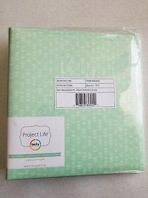 "Becky Higgins Project Life Menthe Chevron 6""x 8"" Photo Binder Album 380555"